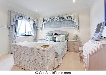 elegáns, hálószoba