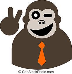 elegância, macaco