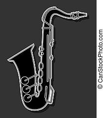 elegância, saxofone