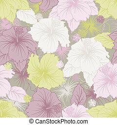 elegância, seamless, pastel, flor, pattern.
