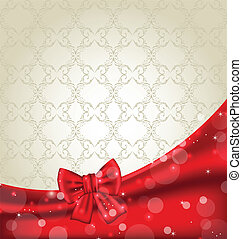 Elegance background with ribbon bow