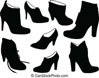 elegance boots - vector