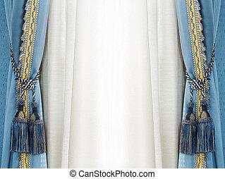 Elegance curtain tassel - Close up blue color elegance...