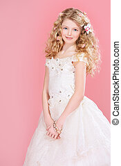 elegance girl - Portrait of a girl with beautiful gentle...