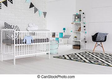Elegance in a baby room? Sure!