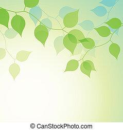 Soft natural branches vector background.