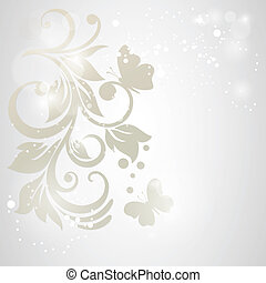 Elegance pattern with flowers in vintage style.Card for...