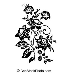 Elegance pattern with flowers narcissus on white background, vector illustration