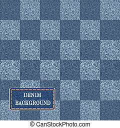 Elegance seamless pattern with denim jeans background.