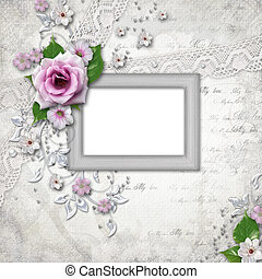 Elegance silver frame for  photo