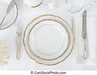 Elegance table setting - Beautifully decorated table with ...