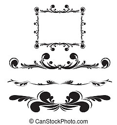 Elegance vintage frames for your text