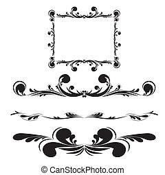Elegance vintage frames for your text