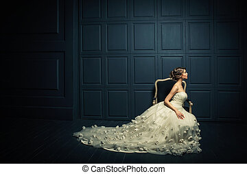 elegancia, mujer