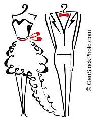 elegancia, ropa