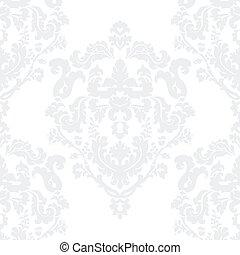 elegancki, adamaszek, królewski, próbka, klasyk