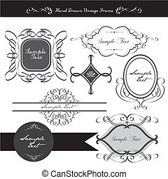 elegancki, calligraphic, zaprojektujcie element