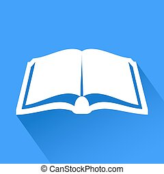 elegancki, książka, symbol