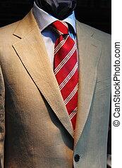 elegancki, mężczyźni, garnitur