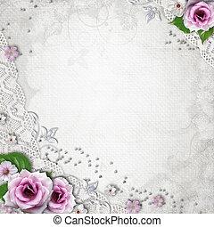 elegans, bakgrund, bröllop