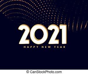 elegant 2021 new year card design in golden style