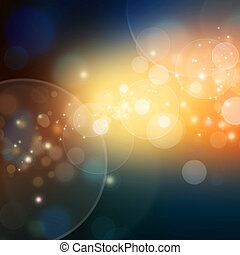 Elegant abstract background with bokeh defocused lights and...