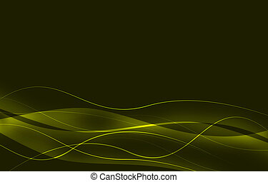 elegant abstract background with green lines