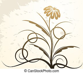 Elegant abstract design with flower