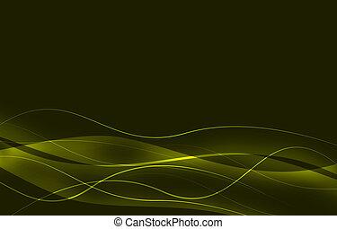 elegant, abstract, lijnen, groene achtergrond