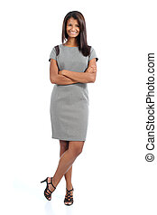 Elegant african american woman posing