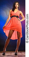 Elegant african woman in dress.