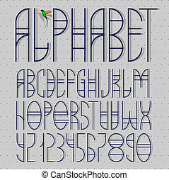 Elegant alphabet letters and numbers
