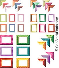 elegant and colorful art frames