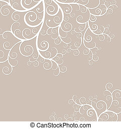 Elegant and delicate black background with golden swirls