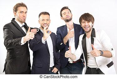 Elegant and handsome guys together