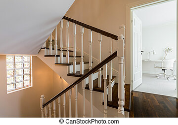 Elegant and light staircase in the house
