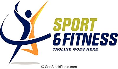 sport and fitness logo - elegant and strong sport and ...