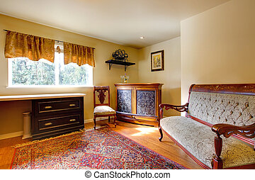 Elegant antique office room