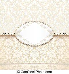 elegant, antique-style, inbjudan