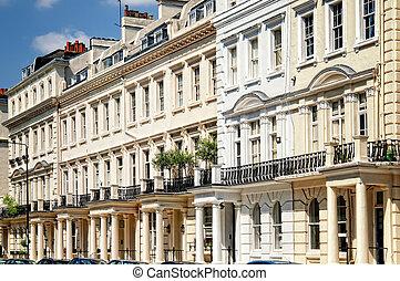 Elegant apartment building in Notting Hill, London.