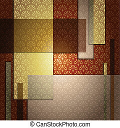 Elegant patterned background in warm brown tones. Graphics are grouped and in several layers for easy editing. The file can be scaled to any size.