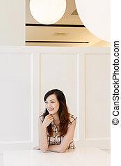 Elegant Asian mature woman