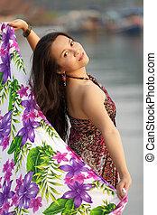 elegant asian woman
