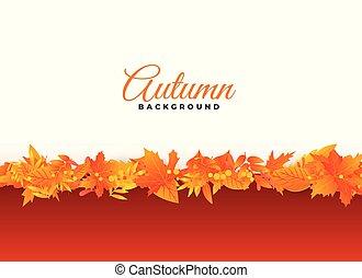 elegant autumn background leaves design