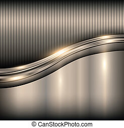Elegant background - Elegant 3d metallic background, vector.