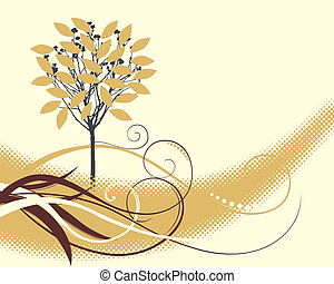 elegant background with a tree