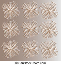 Elegant background with abstract snowflake