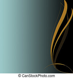 Elegant background with gold ornament