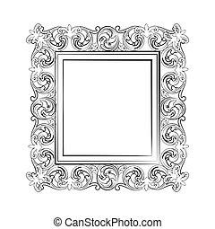 Elegant Baroque royal frame