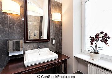 Elegant bathroom interior - Interior of a classy bathroom...